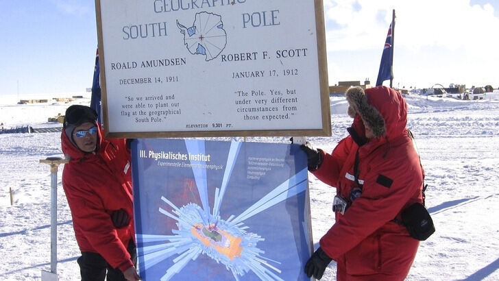 IceCube Colleagues at the South Pole