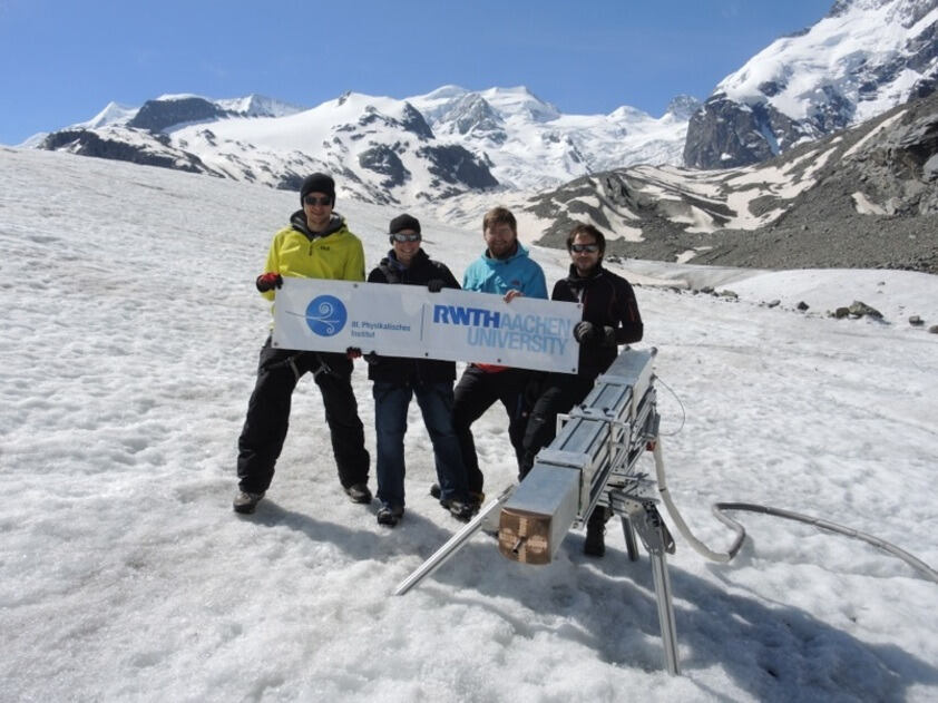 EnEx collaborators at the Morteratsch glacier
